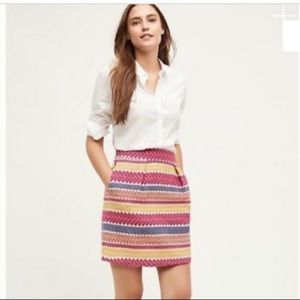 Anthropologie nomad mini tapestry skirt L